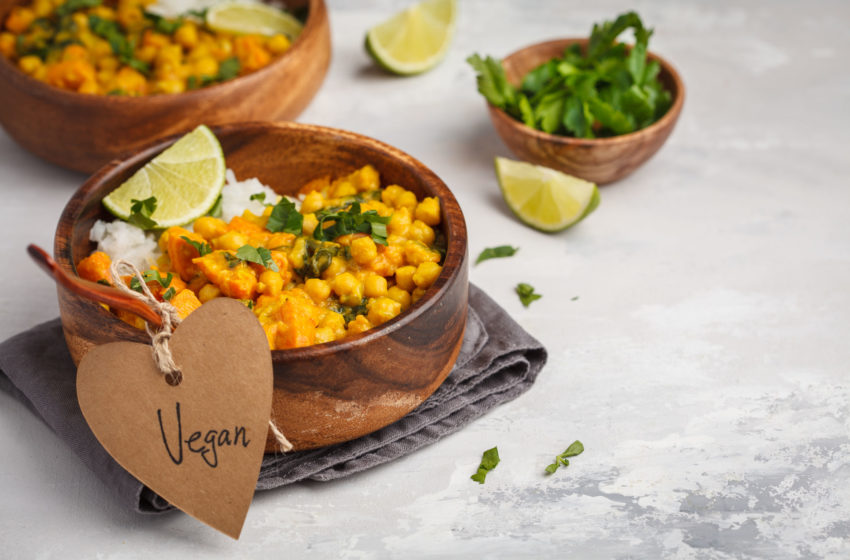 Chickpea Curry with a Peanut Twist