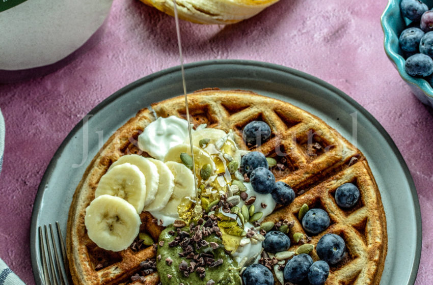 Buckwheat Almond Waffles